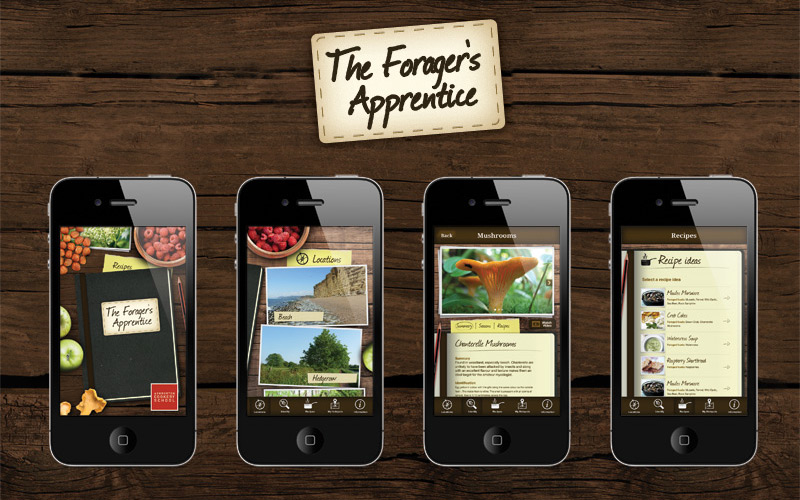 Foraging App featured on app store