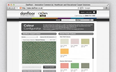 Danfloor - Bespoke web application incorporating Crown Paints